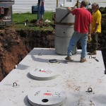 Installation of septic tank